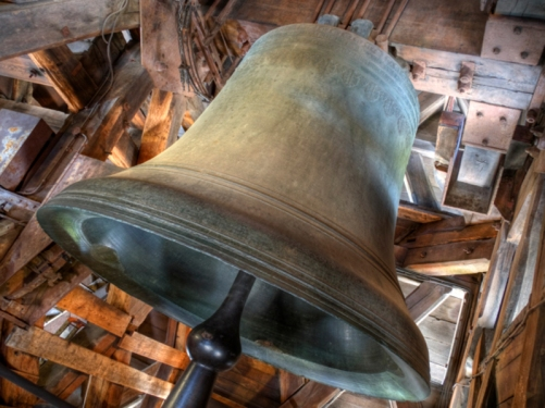 The Emmanuel Bell in the South tower of Notre-Dame - all 13 tons of it